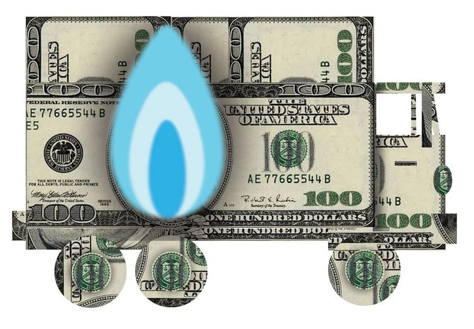 Illustration Natural Gas by Alexander Hunter for The Washington T