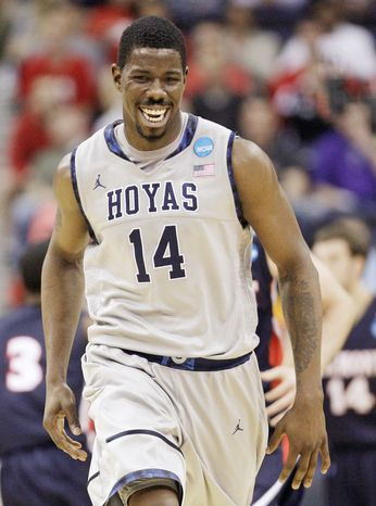 Henry Sims averaged 11.6 points and 6 rebounds as a senior at Georgetown after averaging 2.4 points and 2.2 rebounds his first three seasons. (Associated Press)