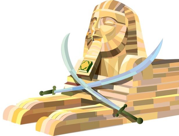 Illustration: Egypt by Linas Garsys for The Washington T