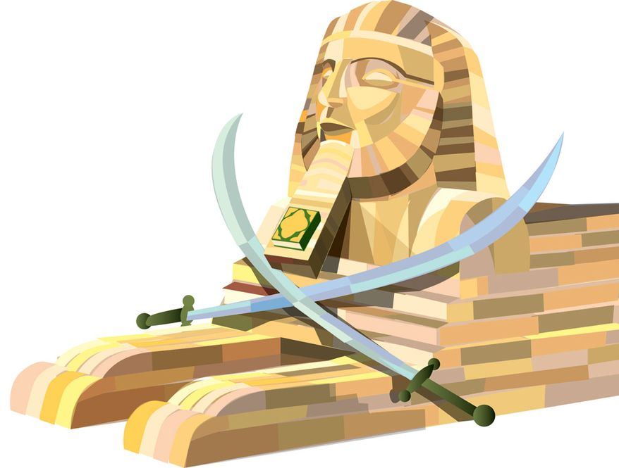 Illustration: Egypt by Linas Garsys for The Washington Times