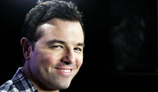 "Seth MacFarlane, TV's ""Family Guy"" creator, has funded the collection and organization of the work of Carl Sagan for donation to the Library of Congress. (Associated Press)"