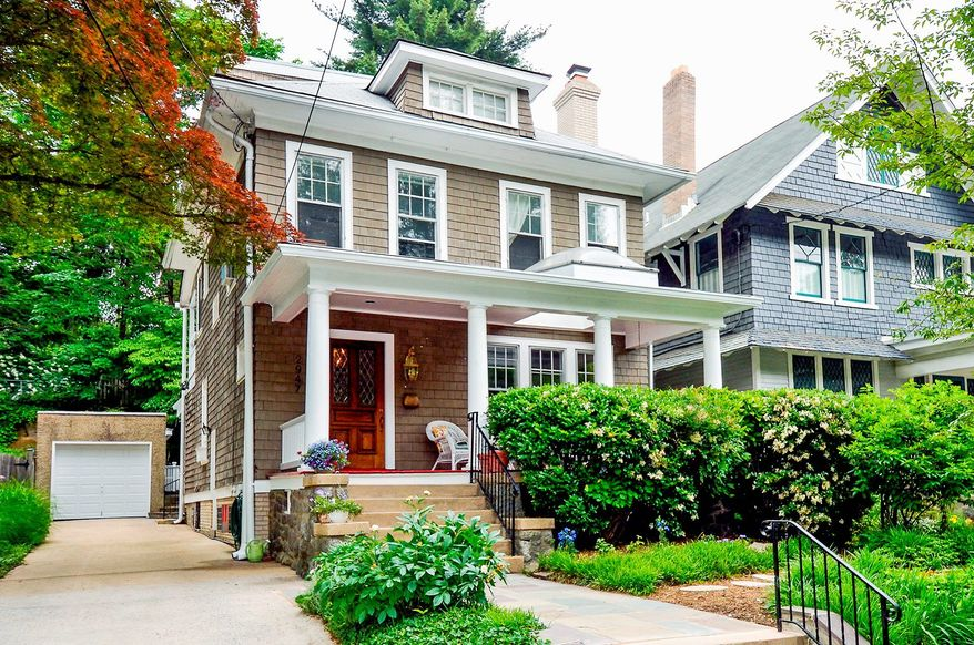 The home at 2947 Macomb St. NW in the District's Cleveland Park neighborhood is on the market for $1,350,000. The home, built in 1916, has been expanded and renovated over the years so it is now almost double the size of the original home. It has four bedrooms, three full baths and a powder room.