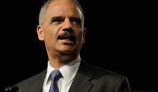 Attorney General Eric Holder speaks at the League of United Latin American Citizens National Convention, Thursday, June 28, 2012, in Lake Buena Vista, Fla. (AP Photo/John Raoux)