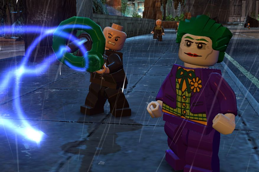 Lex Luthor and the Joker try to destroy Gotham City in the video game Lego Batman 2: DC Super Heroes.