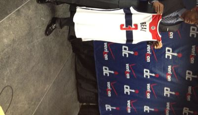 Newest Washington Wizard Bradley Beal poses for a photograph at his introductory press conference Friday. (Nicolas Nightingale/The Washington Times)