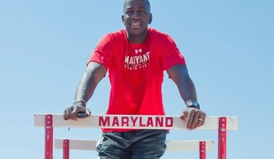 Maryland track and field coach and former two-time Olympic gold medalist Andrew Valmon is contending with two major issues: preparing the U.S. Olympic team for the London Games and raising sufficient funds to keep the school's program from being eliminated. (Barbara L. Salisbury/The Washington Times)