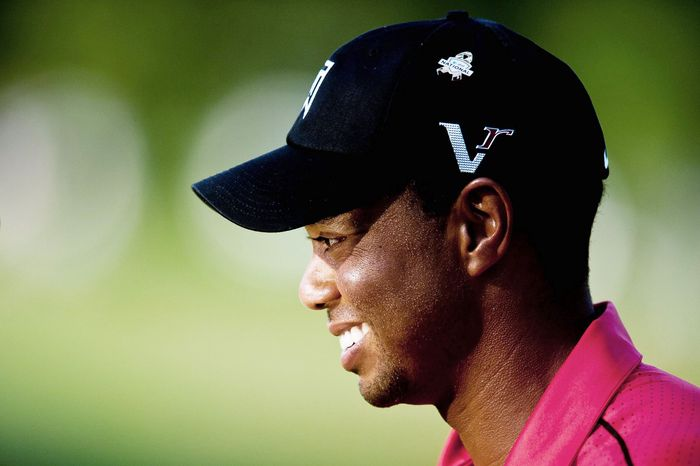 A trying weekend at the AT&T National was capped by Tiger Woods' two-stroke victory over Bo Van Pelt. It was Woods' 74th PGA Tour win. (Ryan M.L. Young/The Washington Times)