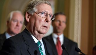 Senate Minority Leader Mitch McConnell, Kentucky Republican (AP Photo)