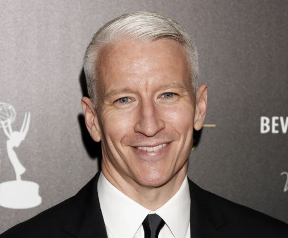 CNN's Anderson Cooper arrives at the 39th annual Daytime Emmy Awards at the Beverly Hilton Hotel in Beverly Hills, Calif., on Monday, June 23, 2012. (AP Photo/Todd Williamson, Invision)