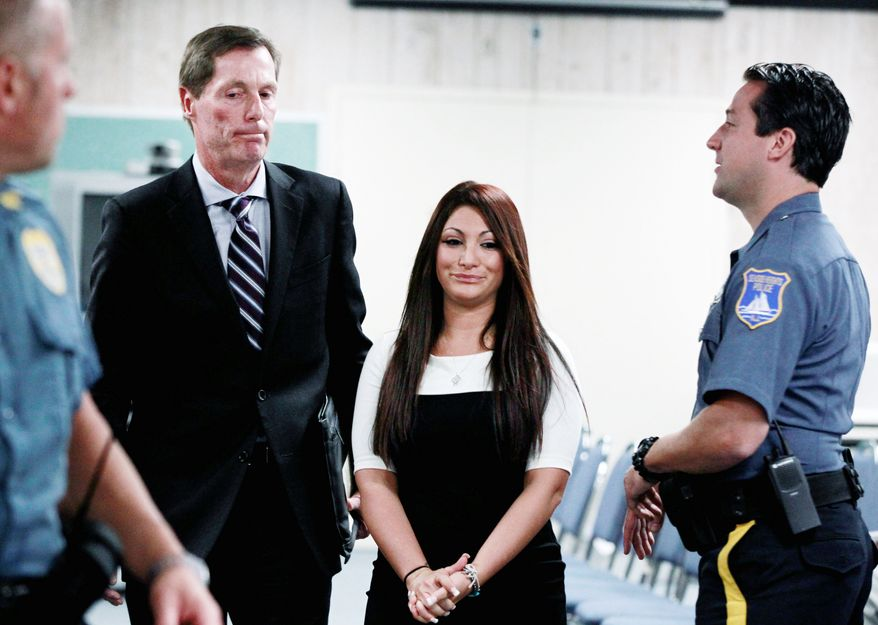 "Jersey Shore"" cast member Deena Cortese had to step foot into court after dancing in the street. (Associated Press)"