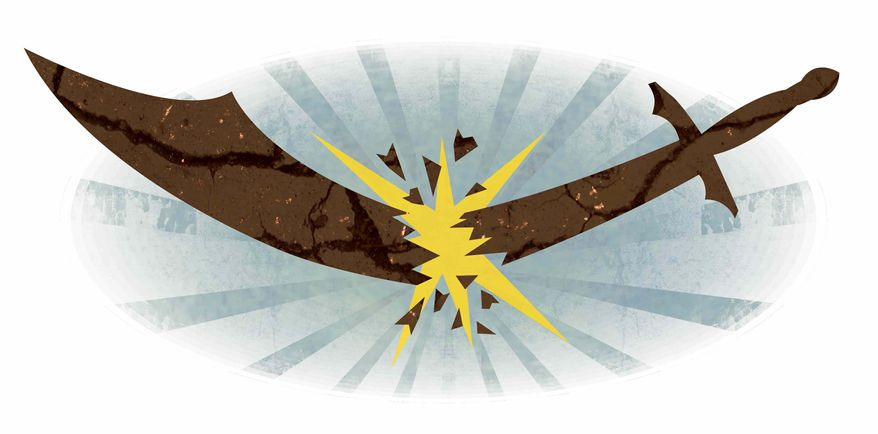Illustration Defying Mullahs by Greg Groesch for The Washington Times