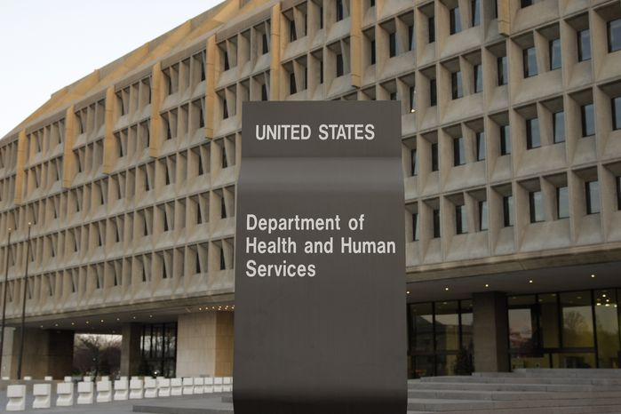 **FILE** The Department of Health and Human Services building is seen in Washington on April 5, 2009. (Associated Press)