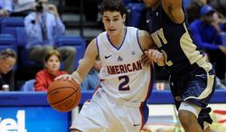 Senior guard Daniel Munoz is American's top returning scorer at 8.0 points per game. He also led the Patriot League in assists (4.2 a game) last season. (American University Athletics)