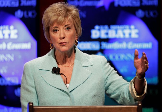 Linda McMahon is running again as an outsider for the U.S. Senate after losing her first race two years ago. She spent nearly $50 million of her own fortune in 2010 in a losing bid for U.S. Sena
