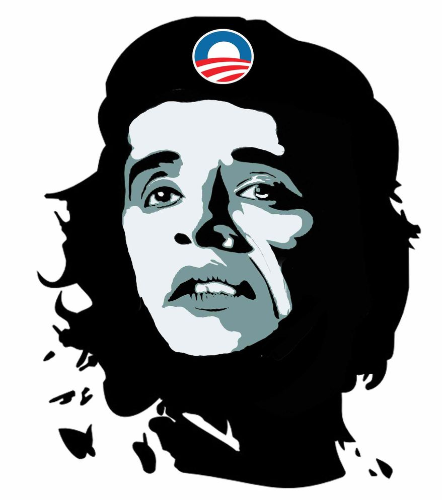 Illustration CheBama by John Camejo for The Washington Times