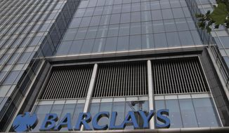 Barclays headquarters at London's Canary Wharf financial district is seen here July 3, 2012. (Associated Press)