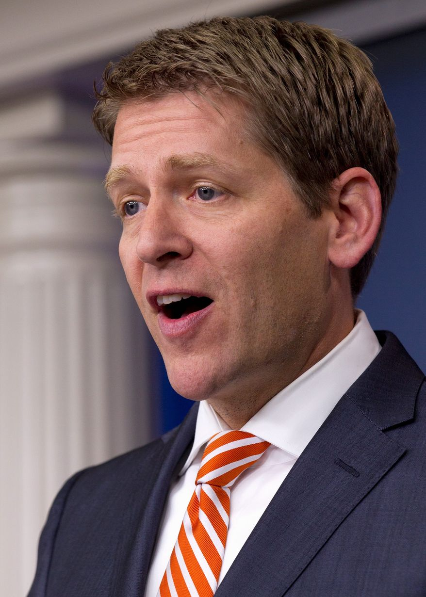 """This is clearly a penalty that affects less than 1 percent of the American population. And it is a penalty you only pay as a matter of choice,"" said White House press secretary Jay Carney. (Associated Press)"