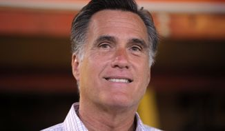 Republican presidential candidate Mitt Romney speaks about job numbers on Friday, July 6, 2012, at Bradley's Hardware in Wolfeboro, N.H. (Associated Press)
