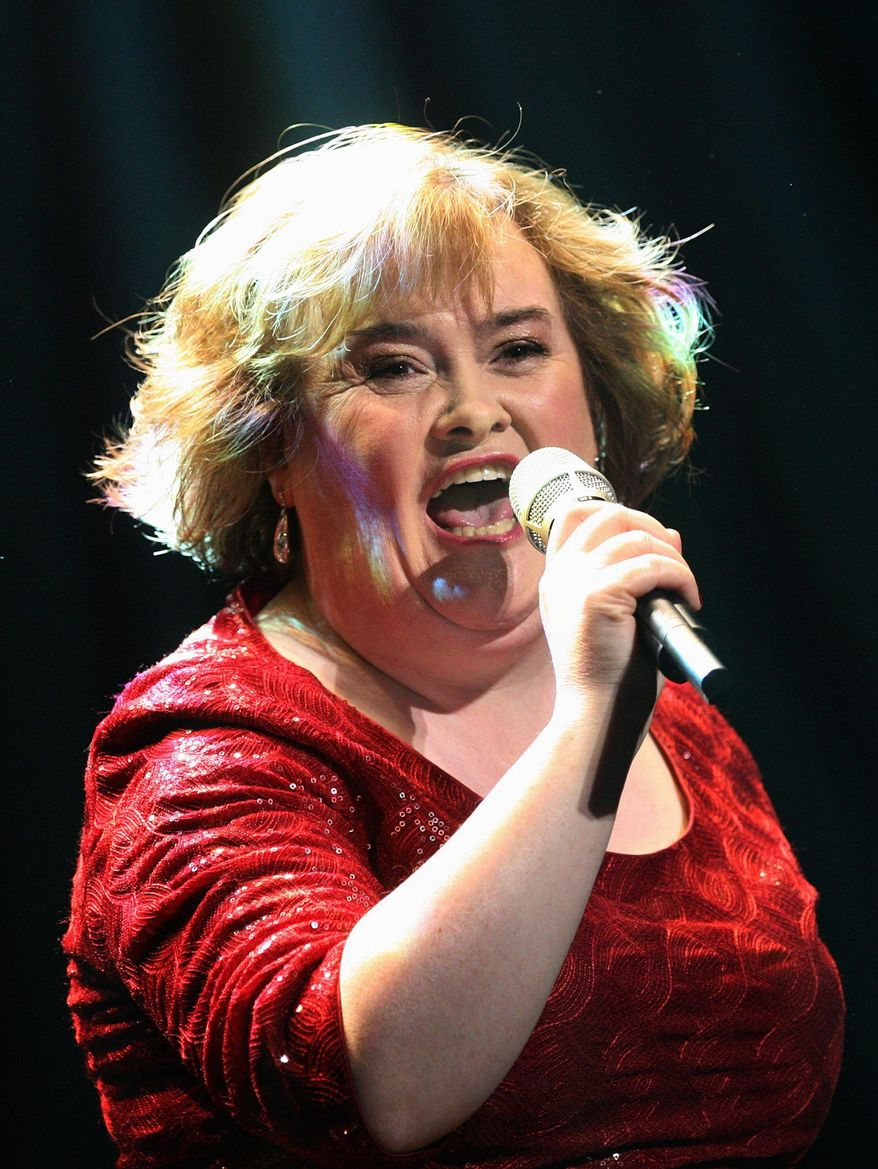 """Singer Susan Boyle received an honorary doctorate on Friday from Scotland's Queen Margaret University in recognition of her """"contribution to the creative industries."""" (Associated Press)"""