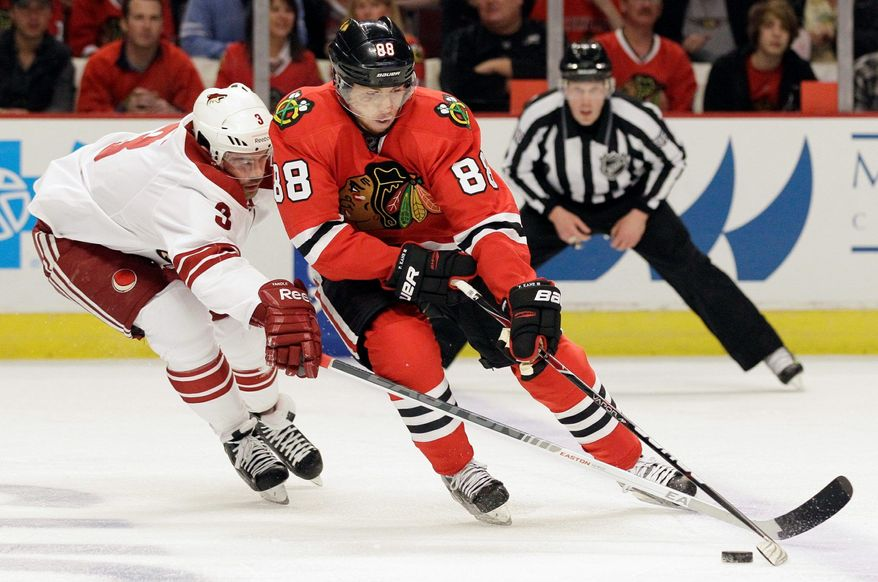 Chicago's Patrick Kane, a product of the U.S. National Team Development Program, has scored at least 21 goals in each of his five NHL seasons. He scored 30 goals and had 58 assists in 2009-10 in helping the Blackhawks win the Stanley Cup. (Associated Press)