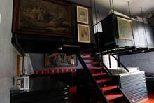 A view of the room, restricted to public, where sketches by mannerist painter Simone Peterzano are preserved in the Sforza Castle, in Milan, Friday, July 6, 2012. (AP Photo/Luca Bruno)