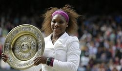 """""""I feel amazing out there. This whole tournament I felt really great physically. So it's definitely the beginning of something great. I hope it is."""" - Serena Williams after winning Wimbledon on Saturday, her 14th major title. (Associated Press)"""