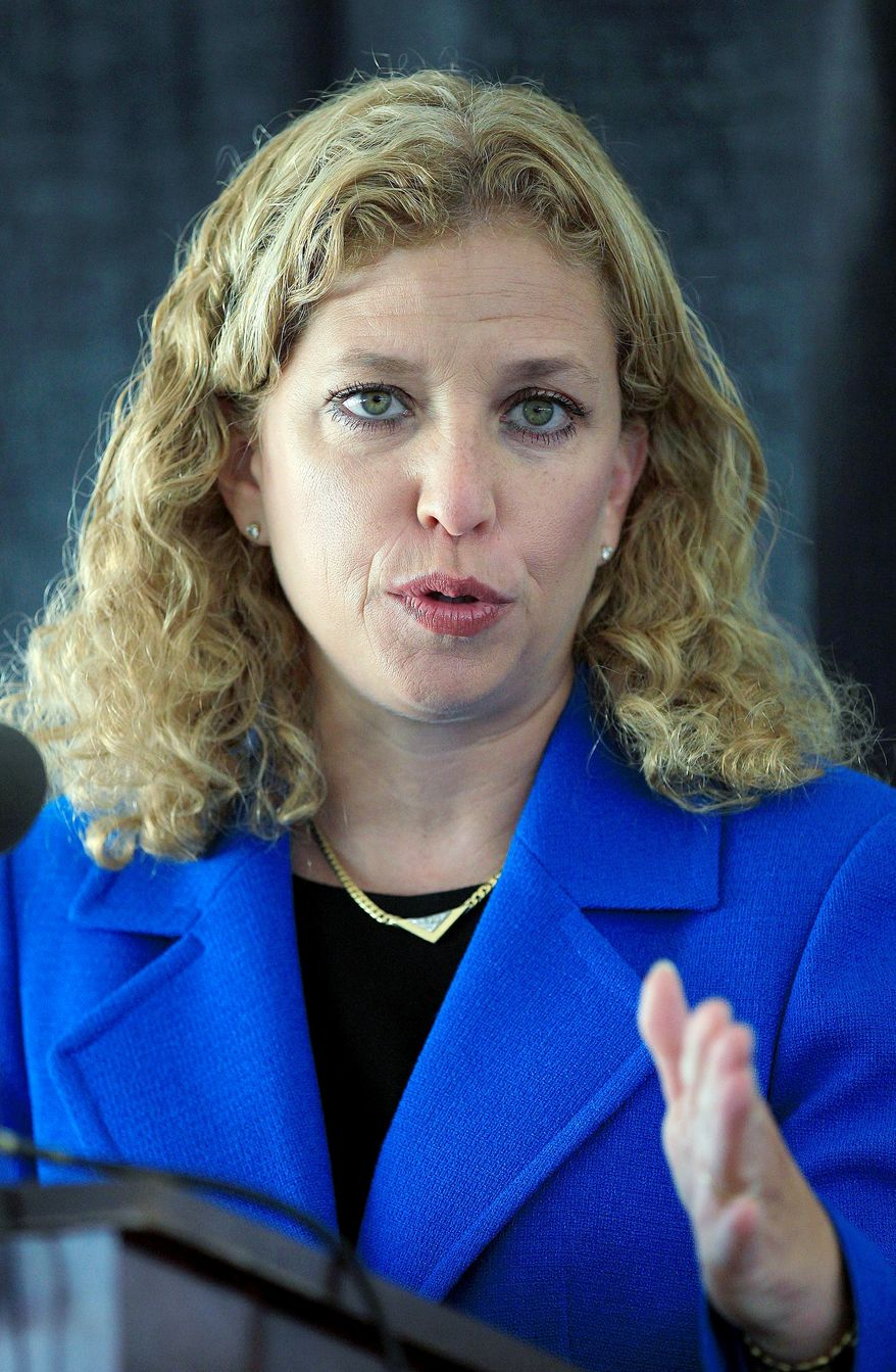 Democratic National Committee Chairwoman Debbie Wasserman Schultz and others went on offense on Sunday news shows against the presumptive GOP presidential nominee. (Associated Press)