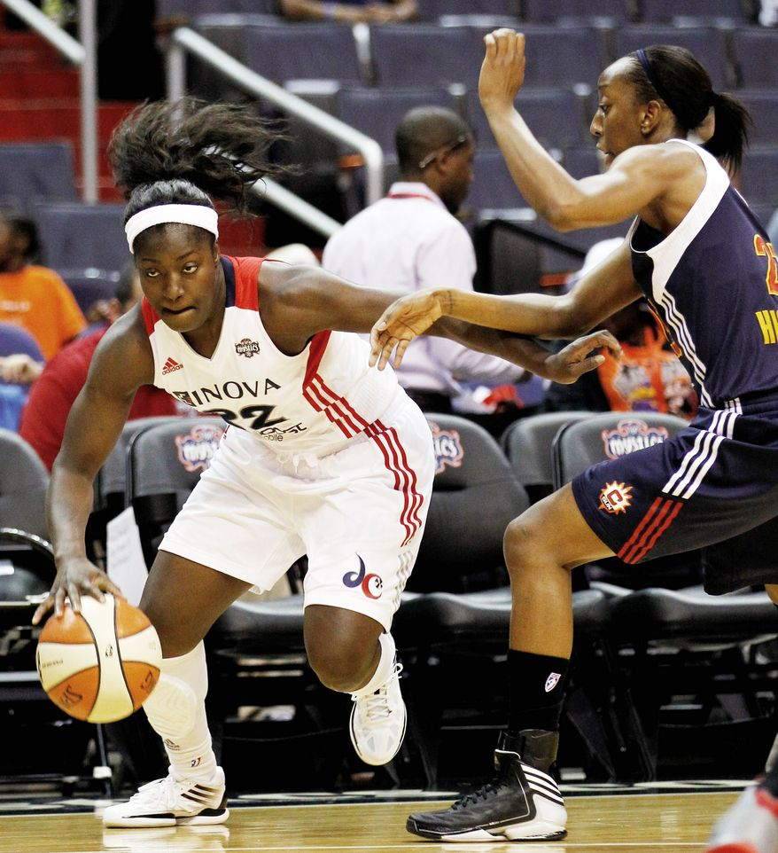 Mystics guard Matee Ajavon scored 10 of her 12 points in the first quarter, then played less than 10 minutes the rest of the game because of defensive matchups sought by coach Trudi Lacey. (Associated Press)