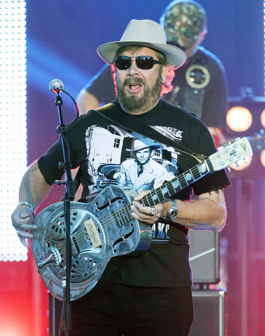 Hank Williams Jr. performs during the CMT Music Awards last month. His new album, his first in three years, follows his row with ESPN, which seems to have recharged him. (Associated Press)