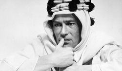 """Peter O'Toole's performance in """"Lawrence of Arabia"""" earned him the first of his eight Oscar nominations. Mr. O'Toole, about to turn 80, has announced his retirement. (Columbia Pictures via Associated Press)"""