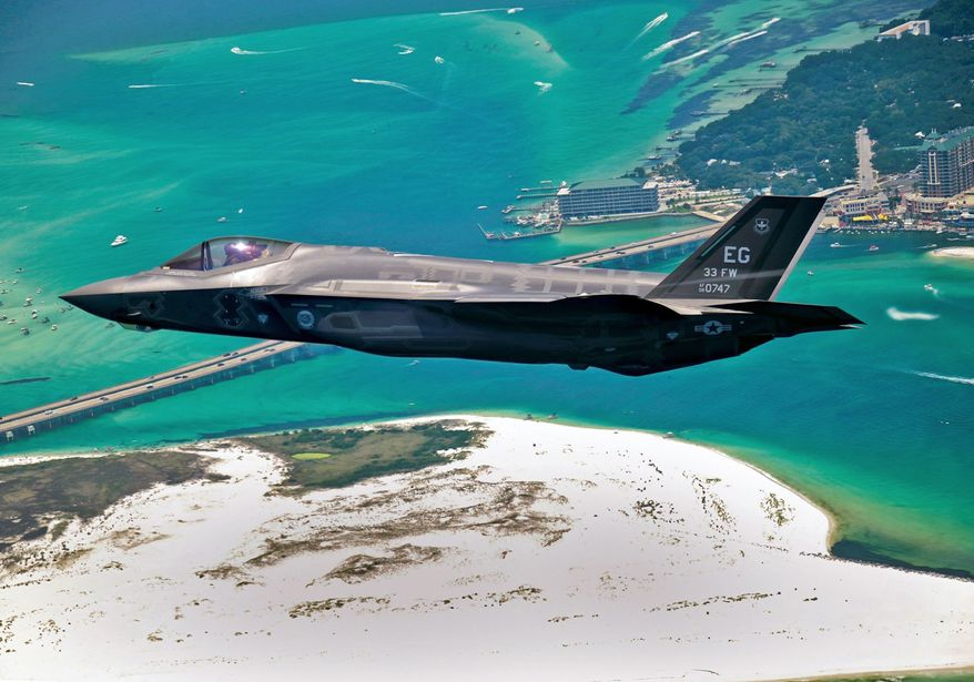 The Navy has planned to buy about 480 of the aircraft-carrier version of the F-35, even as the stealth fighter's costs have skyrocketed and the Navy prepares to shrink its fleet of ships for lack of money. A magazine column by Adm. Jonathan W. Greenert, the chief of naval operations, suggests they may not be needed. (U.S. Air Force via Associated Press)