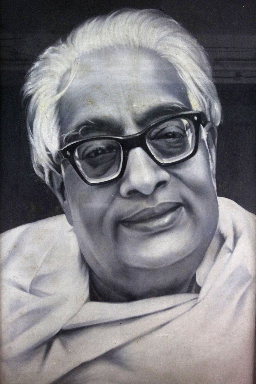 This undated photo of a painting provided by the Bangiya Vigyan Parishad or the Bengal Science Society in Kolkata, India shows Indian scientist Satyendranath Bose. While much of the world was celebrating the international cooperation that led to last week's breakthrough in identifying the existence of the Higgs boson particle, many in India were smarting over what they saw as a slight against one of their greatest scientists. (AP Photo/ Bangiya Vigyan Parishad)