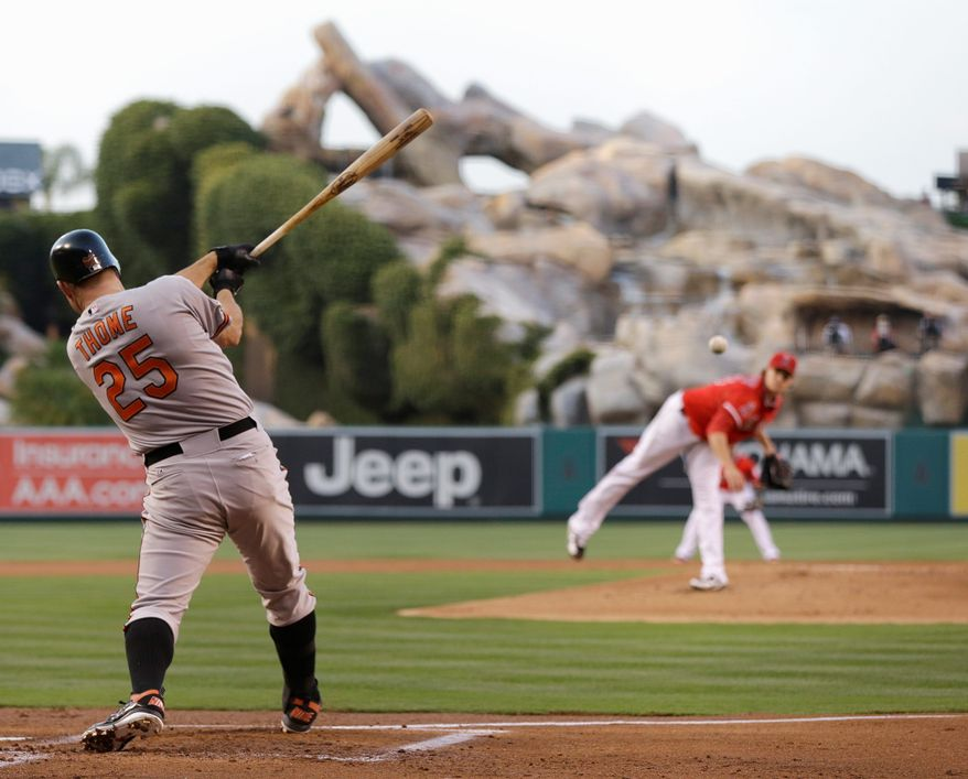 associated press Jim Thome is taking his cuts for Baltimore after being acquired from Philadelphia for two prospects. The Orioles' are one of baseball's first-half surprises, while the Phillies were underachievers.