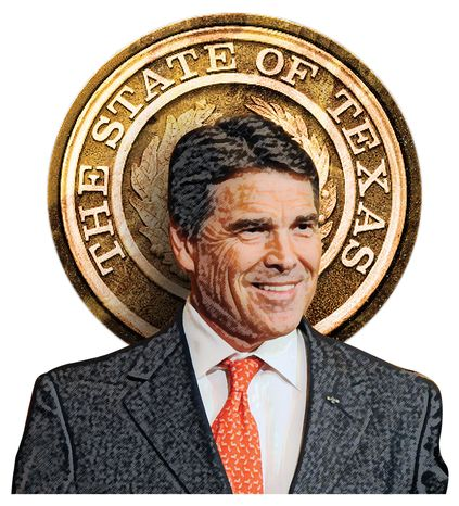 Illustration Rick Perry by Greg Groesch for The Washington Times
