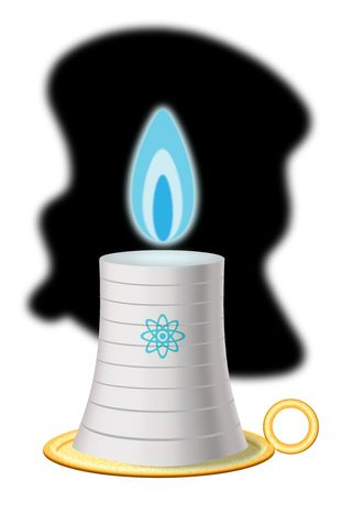Illustration Electricity Candle by Alexander Hunter for The Washington Times