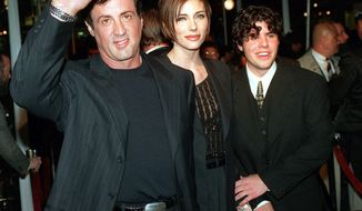 "** FILE ** In this Dec. 5, 1996, file photo, Sylvester Stallone, left, star of the film ""Daylight,"" arrives at the film's world premiere with his girlfriend Jennifer Flavin, center, and his son Sage Stallone, who co-stars in the film, in Hollywood district of Los Angeles. A publicist for Sylvester Stallone says the actor's son has died on Friday, July 13, 2012, at age 36. (AP Photo/Kevork Djansezian, File)"