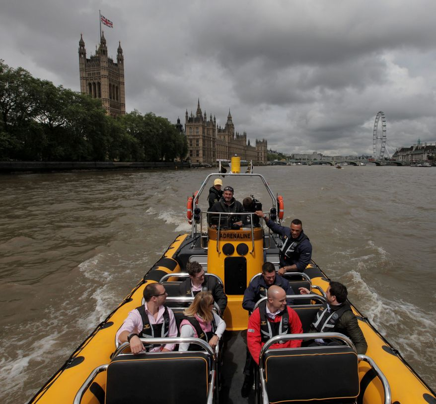 Protection Services International with its river boat is one of many companies that will be catering to the super rick coming to London for the Olympic Games. (Associated Press)