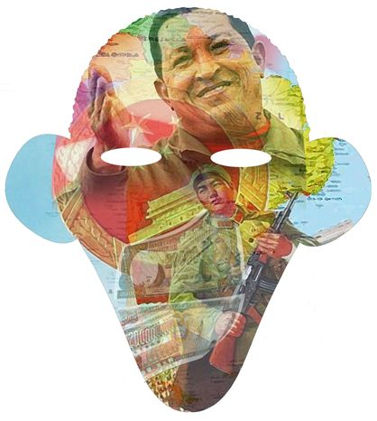 Illustration Obama and Chavez by Alexander Hunter for The Washington Times