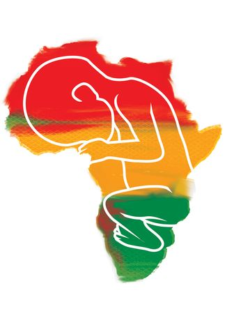 Illustration African Babies by Linas Garsys for The Washington Times