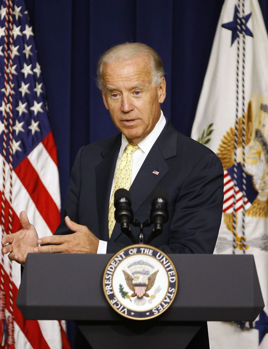 Vice President Joseph R. Biden Jr. speaks July 16, 2012, during a White House community leaders briefing on seniors issues at the Eisenhower Executive Office Building in Washington. (Associated Press)