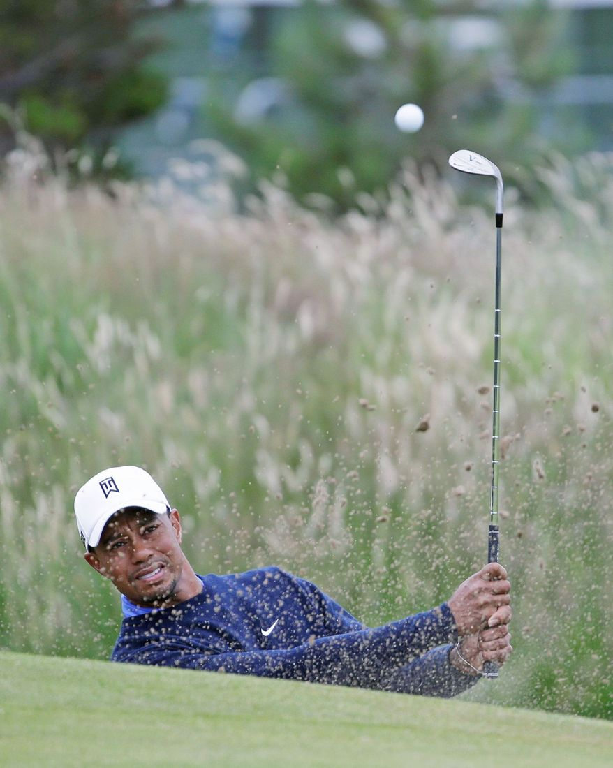 Tiger Woods has three British Open championships, at St. Andrews in 2000 and 2005, and at Royal Liverpool in 2006. His most recent major championship was the U.S. Open at Torrey Pines in 2008. (Associated Press)