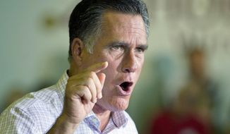 **FILE** GOP presidential hopeful Mitt Romney speaks at an event at Horizontal Wireline Services in Irwin, Pa., on July 17, 2012. Pennsylvania is considered a battleground state, even though the state went for the Democrats in 2008. (Associated Press)