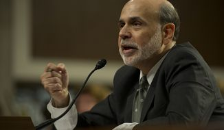 Federal Reserve Chairman Ben S. Bernanke presents his semiannual Monetary Policy Report to Congress on Tuesday, July 17, 2012, at the Dirksen Senate Office Building in Washington. (Barbara L. Salisbury/The Washington Times)