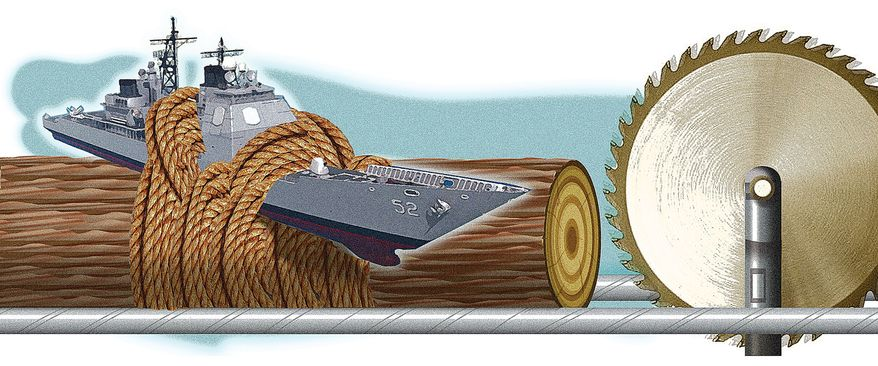 Illustration Sequestration by Alexander Hunter for The Washington Times