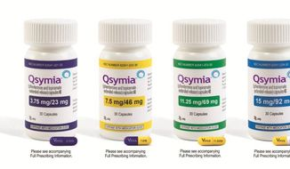 This product image provided by Vivus Pharmaceuticals Inc. shows bottles of Qsymia, the company's anti-obesity drug. (Associated Press/Vivus Pharmaceuticals Inc.)