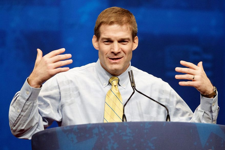 ** FILE ** Rep. Jim Jordan. (Associated Press)