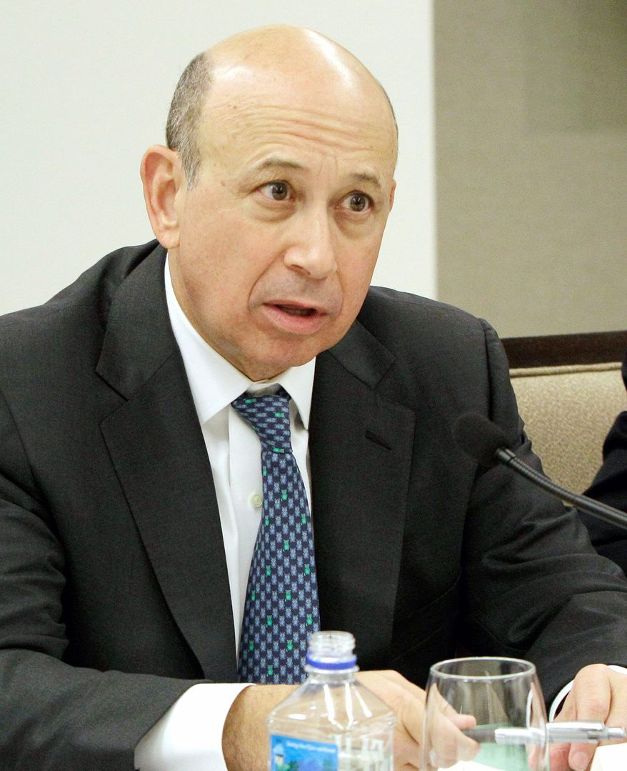 """""""The sentiment is very bad and for real reasons. We can spend a long time talking about all the problems and trying to hedge and adjust for them, but by and large I am optimistic because statistically things do work out,"""" said Goldman Sachs CEO Lloyd Blankfein. (Associated Press)"""
