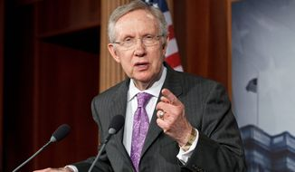 **FILE ** Senate Majority Leader Harry Reid, Nevada Democrat (AP Photo/J. Scott Applewhite)