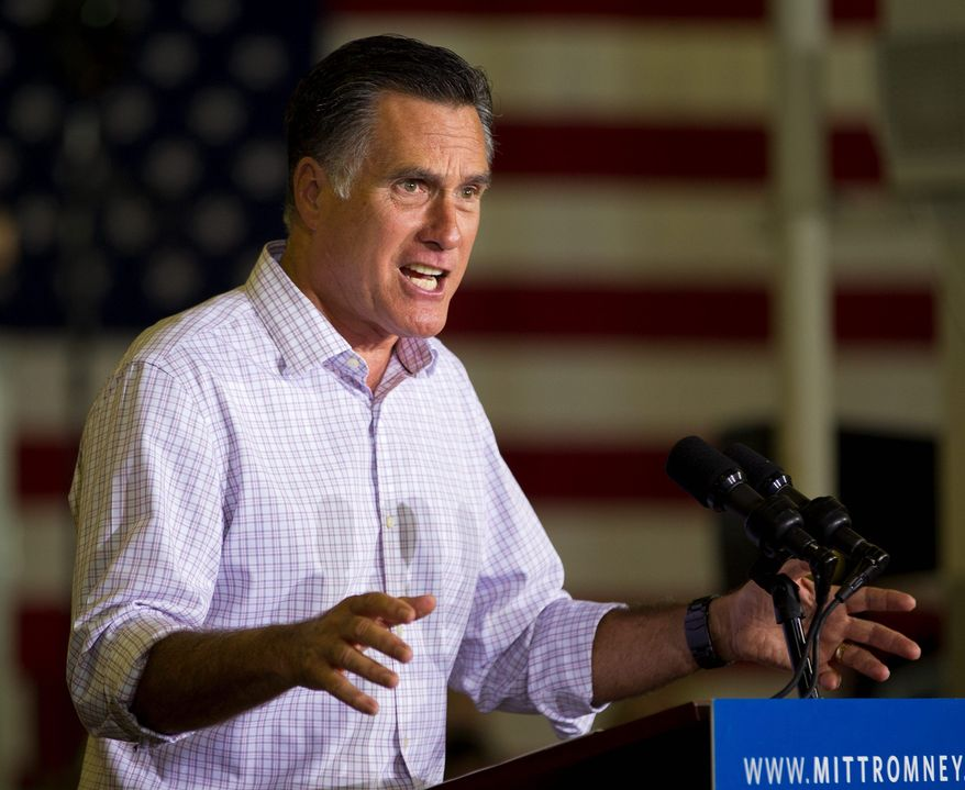 Presumptive Republican presidential nominee Mitt Romney out-raised President Obama by $73 million to $66 million in June, disclosures showed Friday. Mr. Romney doubled his small-donor base, as contributions from people giving $200 or less quadrupled from $2.4 million in April to $10 million in June. (Associated Press)