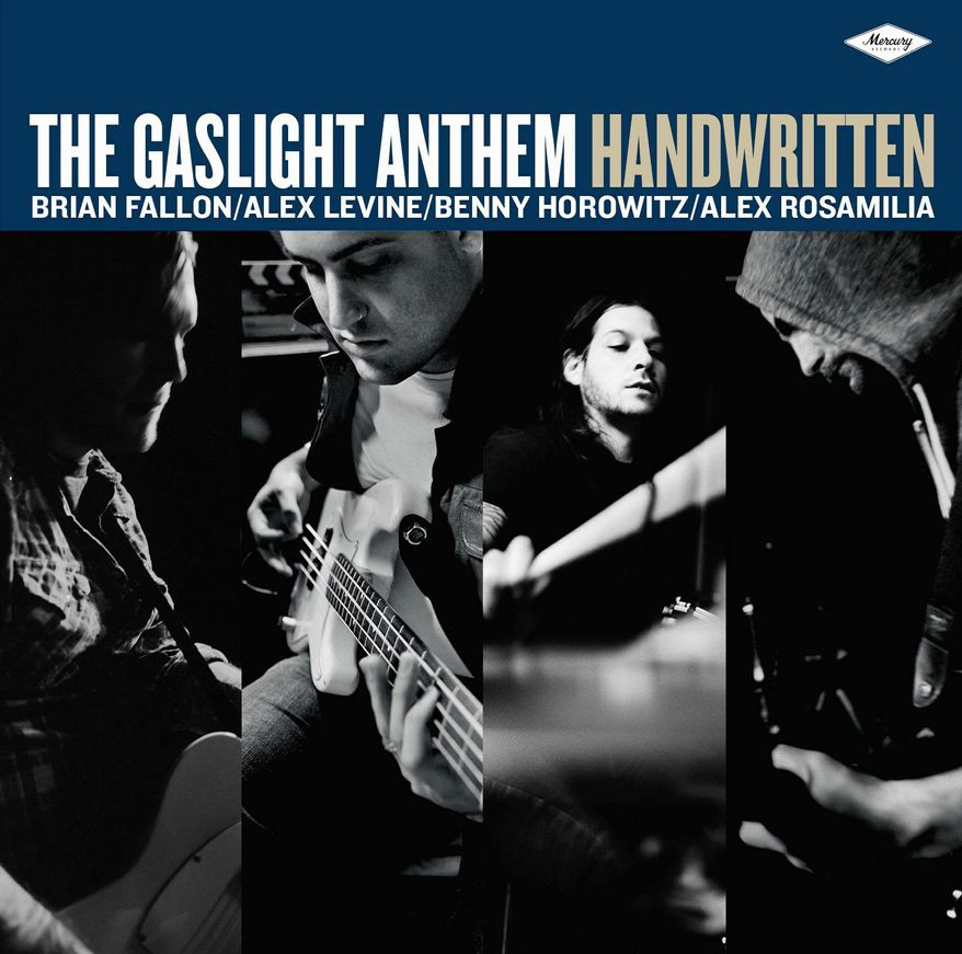 "This CD cover image released by Mercury/Island Def Jam shows the latest release by The Gaslight Anthem, ""Handwritten."" (AP Photo/Mercury/Island Def Jam)"